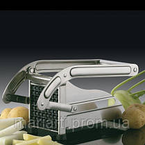 Машинка для нарезки картофеля фри, ручная картофелерезка Potato Chipper Металическая, фото 2