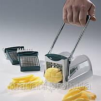 Машинка для нарезки картофеля фри, ручная картофелерезка Potato Chipper Металическая, фото 3
