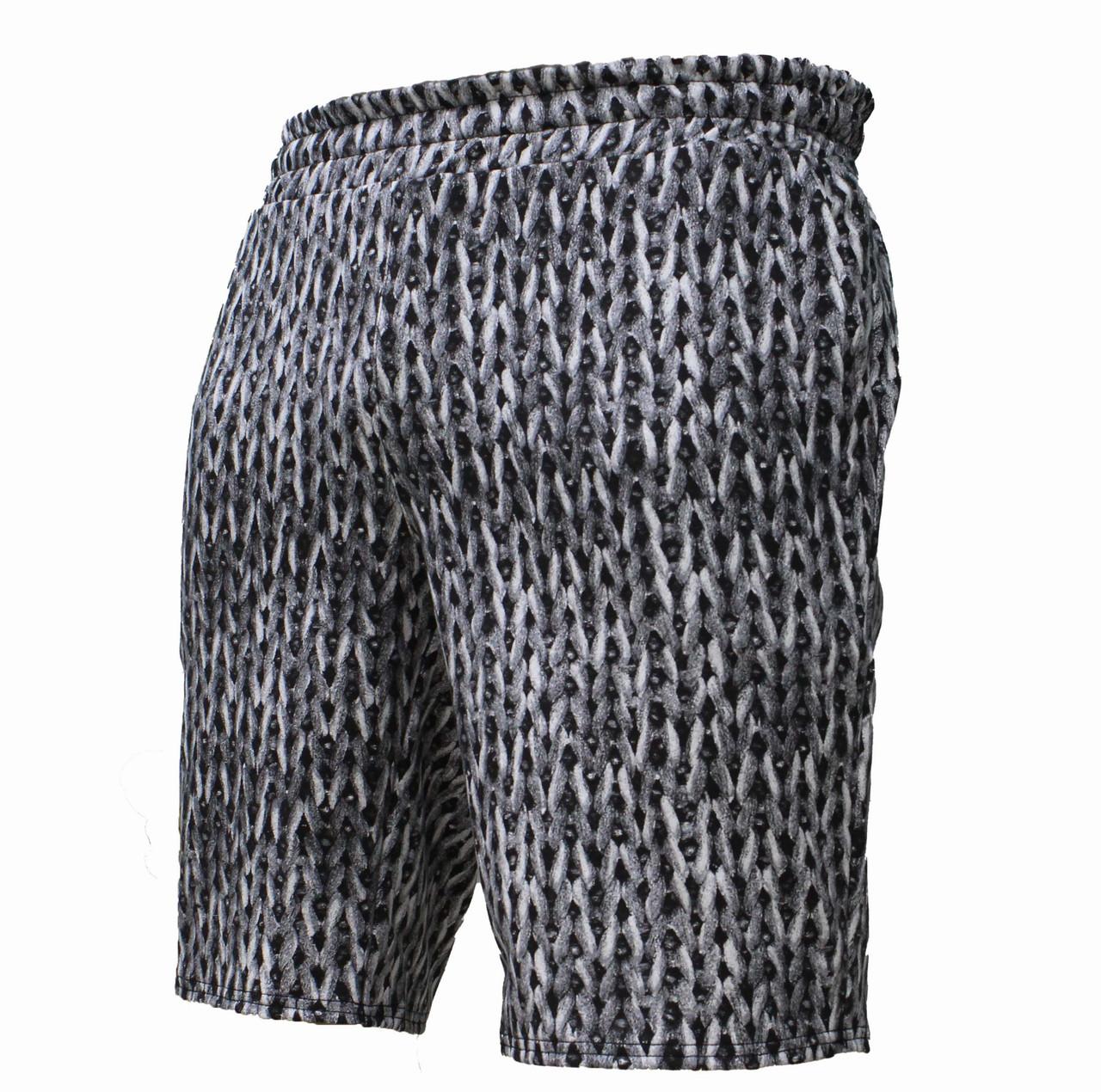 Мужские повседневные черно-белые трикотажные шорты хлопок