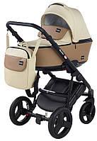 Детская коляска 2 в 1 Richmond Mirello кожа (светло-бежевый - темный капучино)