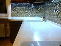Столешница для кухни из акрилового искуственного камня под заказ