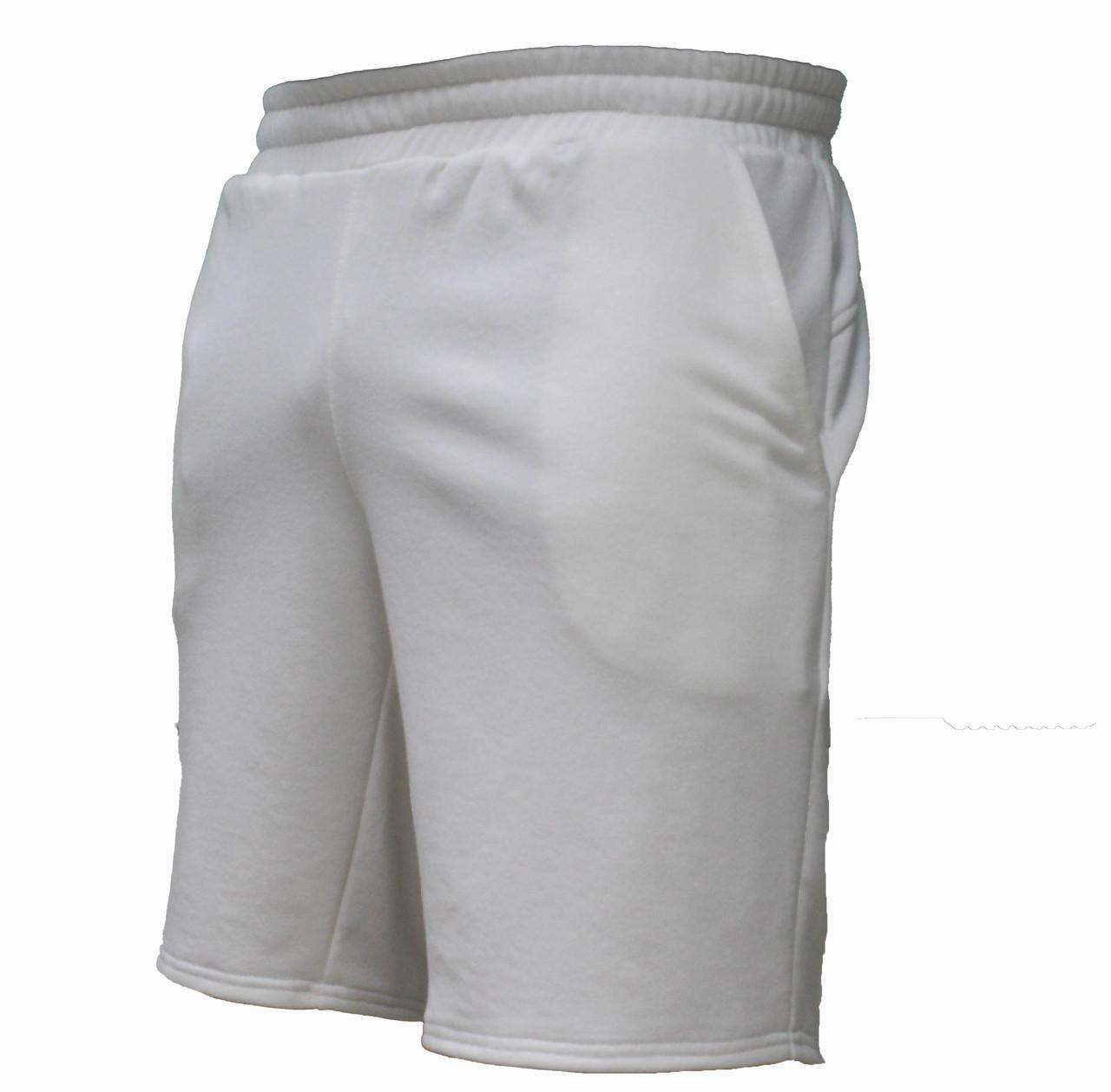 Мужские повседневные фактурные белые трикотажные шорты