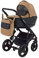Дитяча коляска 2 в 1 Richmond Mirello шкіра (темний капучіно - чорний), фото 1