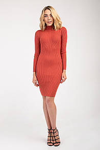 Платье FAMO Трикотажное Янина коралловое S-M (928П)