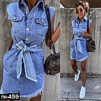 Женское модное джинсовое платье