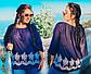 """Летняя женская стильная блузка в больших размерах 15362 """"Батист Прошва Разлетайка"""" в расцветках, фото 3"""