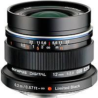 Объектив Olympus EW-M1220 ED 12mm 1:2.0 Black (6203414)