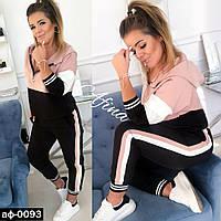 Женский стильный спортивный костюм С, М +большие размеры, фото 1
