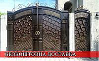 Елітні ковані ворота з хвірткою