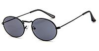 Солнцезащитные очки с маленьким круглым обрамлением солнцезащитные очки мужские овальные черные в черной оправ