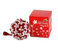 Набор для творчества Аплі Краплі Цветочный шар Красный КК-04, КОД: 1658726