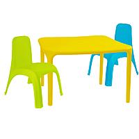 Детский стол для творчества + 2 стула Разноцветные 18-100-09, КОД: 1130262