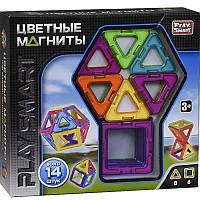 """Магнитный конструктор """"Цветные магниты"""" 14 деталей Play Smart 2425"""