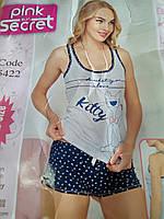 Женский комплект шорты и майка