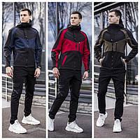 Демисезонная мужская куртка «Тед» (Черная с хаки; черная с синим; черная с бордовым | S, M, L, XL)