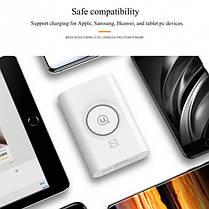 Портативная батарея Usams+Wireless Charging Pad US-CD31 Wish Series 8000 mAh White, фото 3