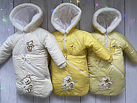 Детский зимний комбинезон-тройка на овчине МИШКИ., фото 1