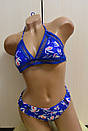 Красивый синий женский раздельный купальник жіночий роздільний купальник, фото 3