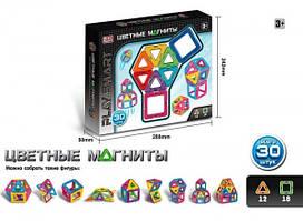 """Магнитный конструктор """"Цветные магниты"""" 30 деталей Play Smart  2427"""