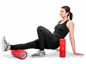 Роллер массажер для кроссфита и йоги Hop-Sport (Розовый), фото 3