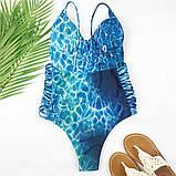 Суцільний купальник з яскравим принтом слитный купальник, фото 3