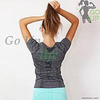 Спортивная женская футболка Active One, для занятий йогой, бегом, фитнесом