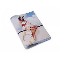 Обложка для паспорта Luxyart  кожа Девушка капитан LT-713, КОД: 1266917
