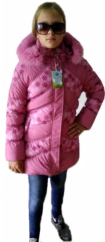 Куртка удлиненная снежинка