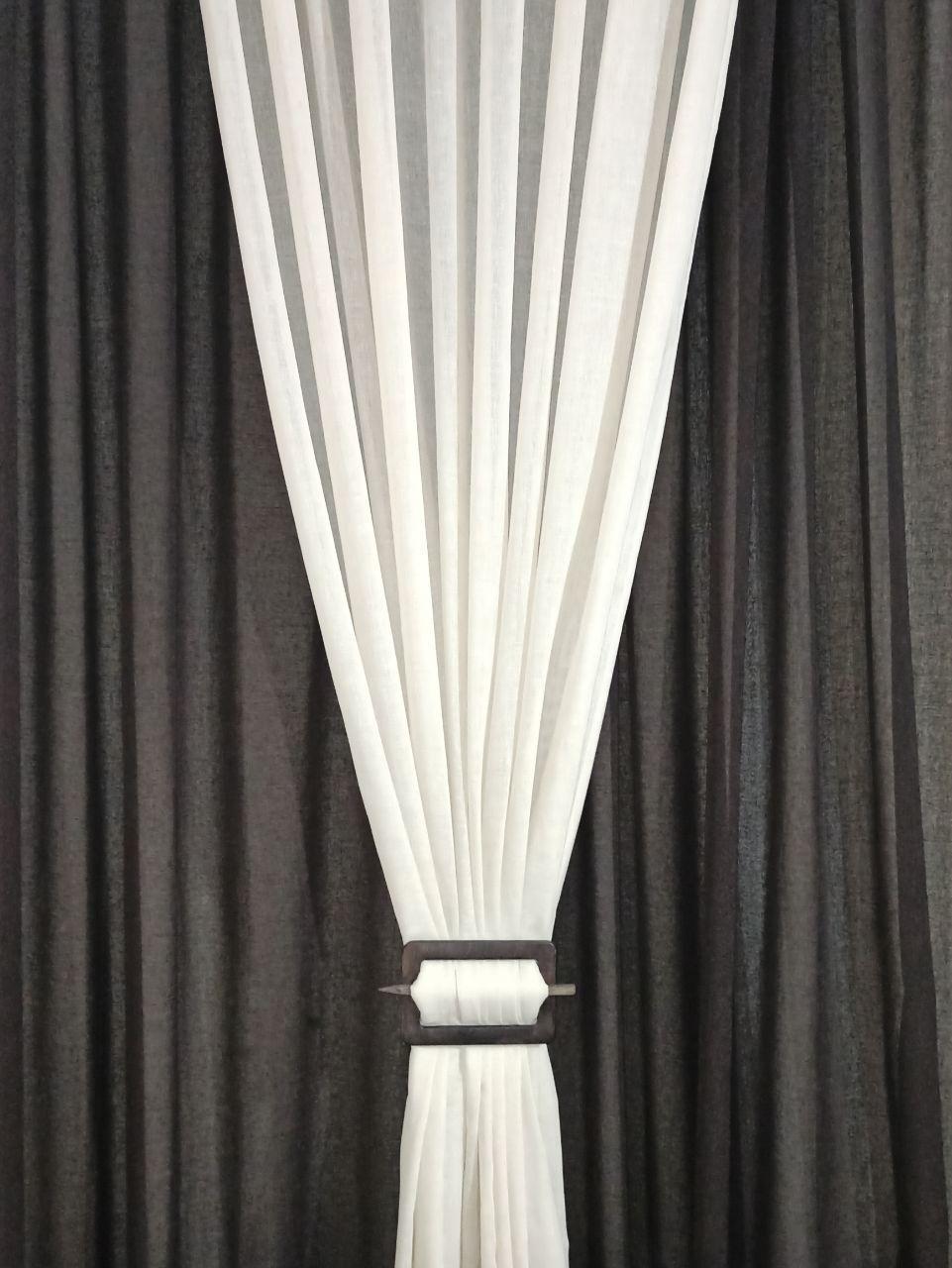 Заколка подхват для штор прямоугольная 160 * 110 мм цвет венге