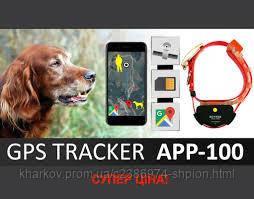 Ошейник с GPS для охотничьих собак HUNTER APP-100 водонепроницаемы GPS трекер для собак HUNTER App 100 Желтый