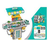 Детский игровой тематический набор паркинг гараж с машинками 11K07 в чемодане 47 ел