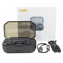 Bluetooth-гарнитура Kumi T3S TWS Bluethooth Earphone Black Global, фото 3