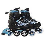 Роликовые коньки детские SportVida 4 в 1 SV-LG0019 размер 31-34 Black/Blue. Ролики для детей, фото 3