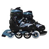 Роликовые коньки детские SportVida 4 в 1 SV-LG0019 размер 31-34 Black/Blue. Ролики для детей, фото 6