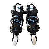 Роликовые коньки детские SportVida 4 в 1 SV-LG0019 размер 31-34 Black/Blue. Ролики для детей, фото 7