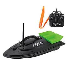 Кораблик для прикормки рыбы Flytec HQ2011 на радиоуправлении, зеленая кормушка