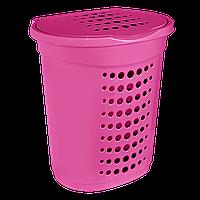 Корзина для белья 60 л Розовая, КОД: 395450