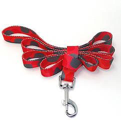 Поводок для животных Luxyart Камуфляж 1.5 м Красный с серым DL-297, КОД: 1669100