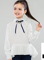 Школьные блузки с длинным рукавом для девочек