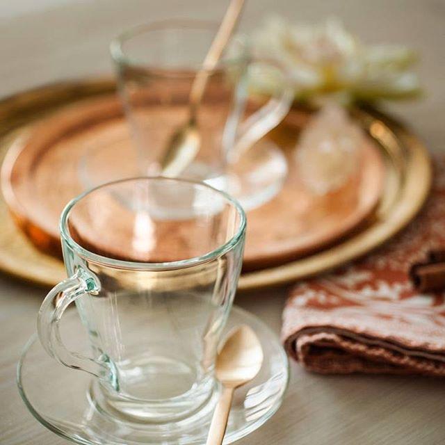 Стеклянный набор 6 чашек+6 блюдец ОСЗ Грация