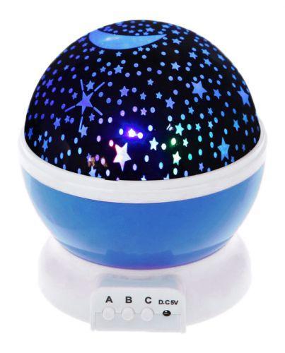 """Вращающийся ночник-проектор """"Star Master"""" (синий) JDY705002938"""