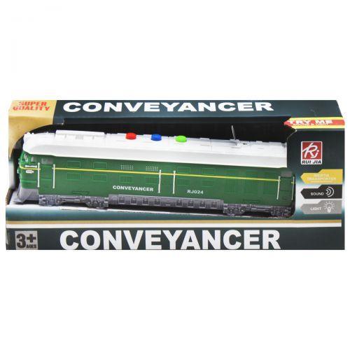 """Поезд """"Conveyancer"""" инерционный, зеленый RJ024"""