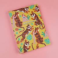 Скетчбук А5 130 страниц Тигры в твердой обложке