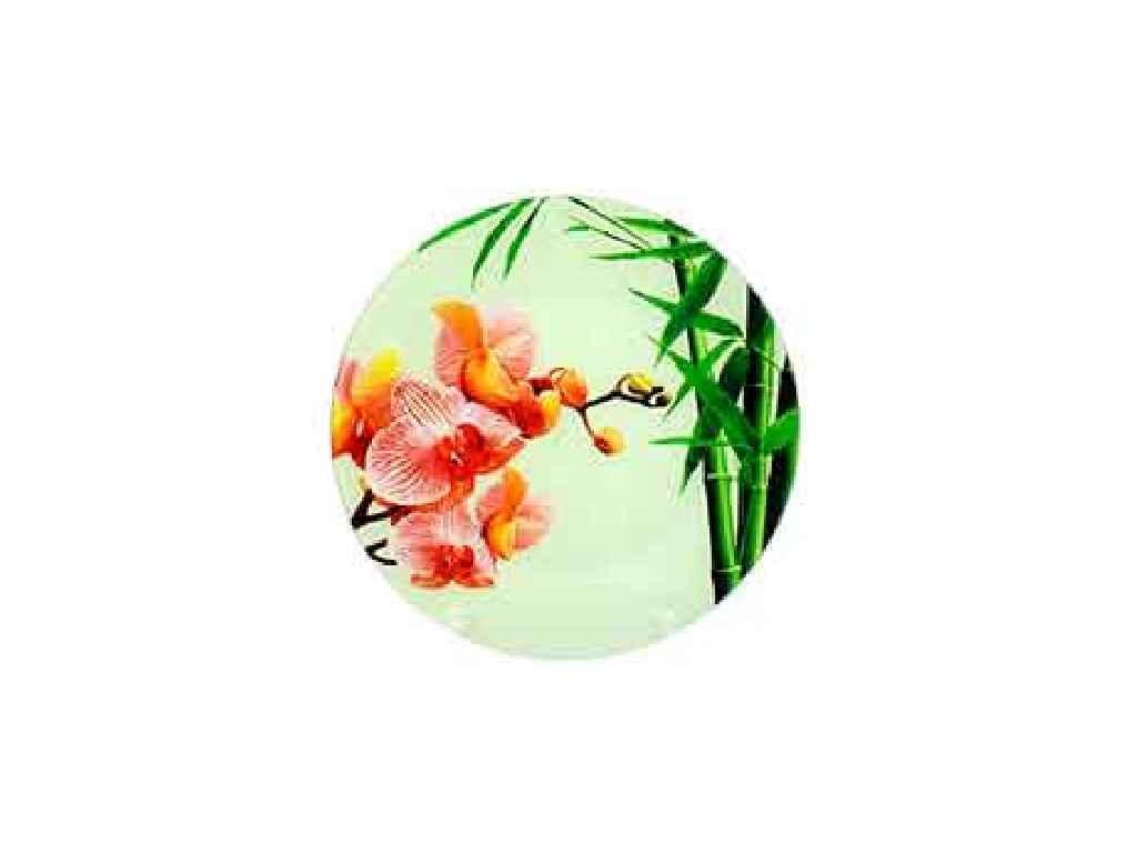 """Блюдо стеклянное Орхидея Pink d=300 мм """"Lumines"""""""