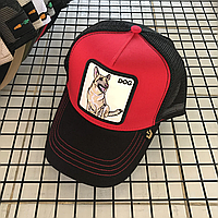 Кепка бейсболка Тракер с сеткой Goorin Brothers Bros Animal Farm Dog Собака Черно-красная, фото 1