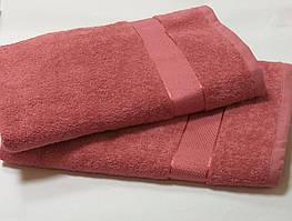 Полотенце махровое 50*90 КОРАЛЛОВЫЙ( темно-розовый)