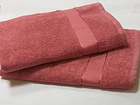 Рушник махровий 70*140 КОРАЛОВИЙ (темно-рожевий)