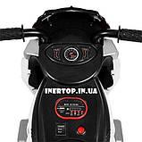 Детский трехколесный электро-мотоцикл на мягких колесах для детей от 3 до 6 лет  M 4113EL-6 желтый, фото 5