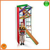 Спортивный деревянный цветной уголок «Барби 3-220» ТМ Sportbaby для детей от 6 лет