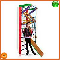 Спортивный деревянный цветной уголок «Барби 3-240» ТМ Sportbaby для детей от 6 лет